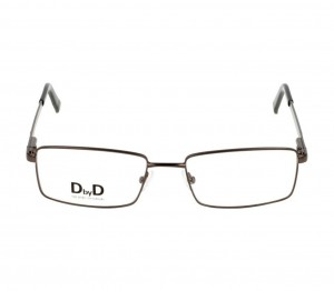 Full Rim Stainless Steel Rectangle Grey Medium DbyD DYH11 Eyeglasses