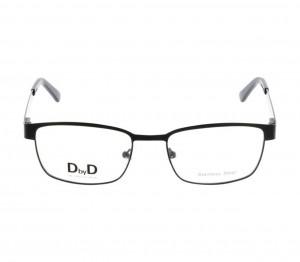 Full Rim Stainless Steel Rectangle Black Medium DbyD DBCM02 Eyeglasses