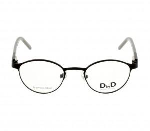 Full Rim Stainless Steel Round Black Small DbyD DBEM02 Eyeglasses