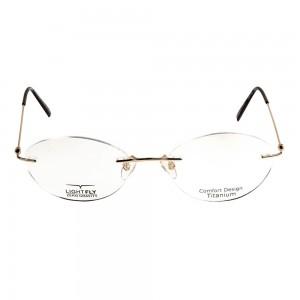 Rimless Metal Round Gold Small Light Fly LFBF20 Eyeglasses
