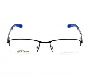 Half Rim Metal Rectangle Black Medium Activ ACFT03 Eyeglasses