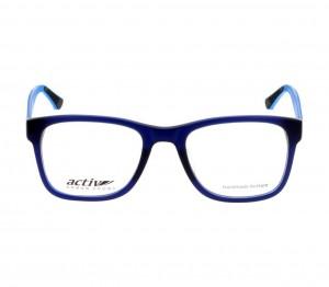 Full Rim Acetate Rectangle Blue Medium Activ ACFM02 Eyeglasses