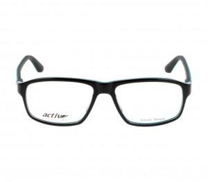 Full Rim Acetate Rectangle Black Large Activ ACFM07 Eyeglasses