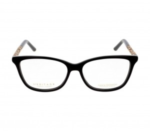 Full Rim Acetate Cat Eye Black Medium Heritage HEFF00 Eyeglasses