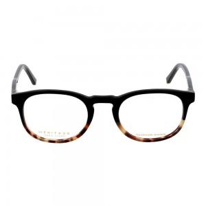 Full Rim Acetate Round Black Small Heritage HECM01 Eyeglasses