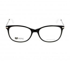 Full Rim Acetate Round Black Medium 5th Avenue FAAF51 Eyeglasses