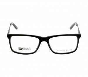 Full Rim Acetate Rectangle Black Medium 5th Avenue FAFM10 Eyeglasses