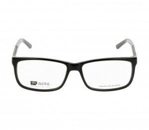 Full Rim Acetate Rectangle Black Large 5th Avenue FABM08 Eyeglasses