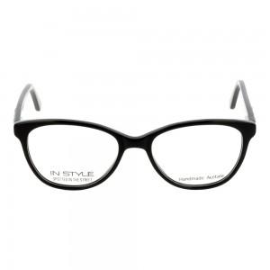 Full Rim Acetate Almond Black Medium In Style ISFT05 Eyeglasses