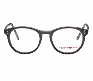 Round Grey Acetate Small Vision Express 61283 Kids Eyeglasses