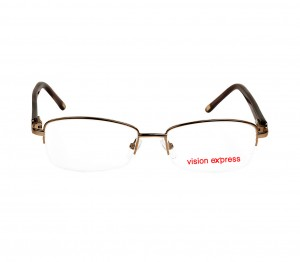 Half Rim Metal Almond Brown Medium Vision Express CLF36 Eyeglasses