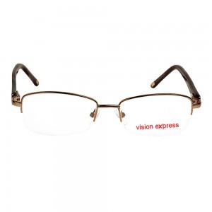 Half Rim Metal Almond Brown Medium Vision Express CLF36 Eyeglasses