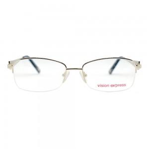 Half Rim Metal Almond Gold Large Vision Express CLF82 Eyeglasses