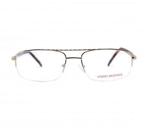Half Rim Metal Almond Gold Large Vision Express CLH56 Eyeglasses