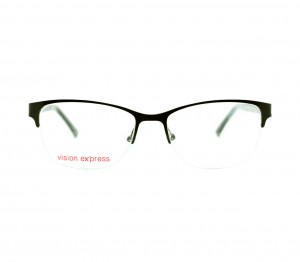 Half Rim Metal Rectangle Black Medium Vision Express BBDF20 Eyeglasses