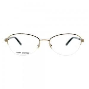 Half Rim Stainless Steel Round Gold Medium Vision Express CLFF22 Eyeglasses