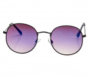 Round Blue Gradient Nickel Silver  Full Rim Small Vision Express 21656 Sunglasses