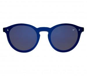Round Blue Mirror Polycarbonate Full Rim Medium Vision Express 21670 Sunglasses
