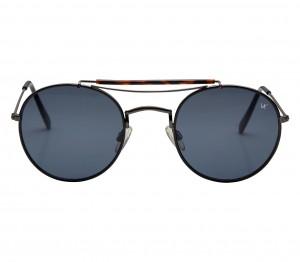 Round Grey Nickel Silver  Full Rim Medium Vision Express 41295 Sunglasses