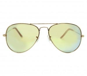 Aviator Orange Mirror Nickel Silver  Full Rim Medium Vision Express 12036 Sunglasses