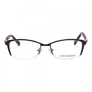 Half Rim Metal Almond Purple Medium Vision Express 31800 Eyeglasses