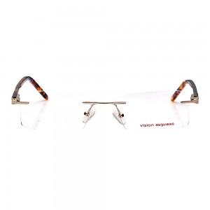 Rimless Metal Rectangle Gold Medium Vision Express 29448 Eyeglasses