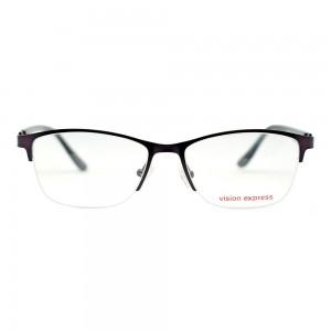 Half Rim Metal Rectangle Purple Medium Vision Express 49050 Eyeglasses