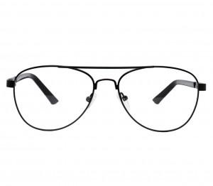 Full Rim Metal Aviator Black Medium Vision Express 12038 Eyeglasses