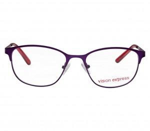Full Rim Metal Cat Eye Purple Medium Vision Express 49068 Eyeglasses
