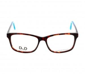 Full Rim Acetate Rectangle Havana Large DbyD DBEM04 Eyeglasses