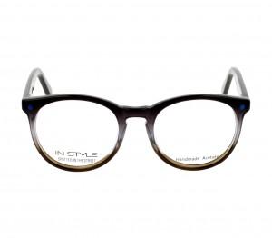 Full Rim Acetate Round Grey Small In Style ISEK02 Eyeglasses