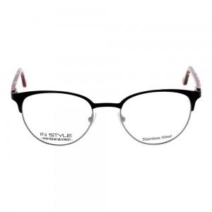 Full Rim Metal Round Black Small In Style ISFF19 Eyeglasses