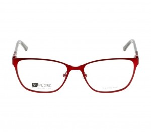 Full Rim Stainless Steel Rectangle Red Large 5th Avenue FABF22 Eyeglasses