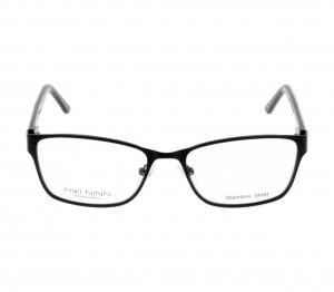 Full Rim Stainless Steel Rectangle Black Medium Miki Ninn MNDF33 Eyeglasses