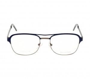 Full Rim Stainless Steel Aviator Blue Medium Julius JUBM15 Eyeglasses