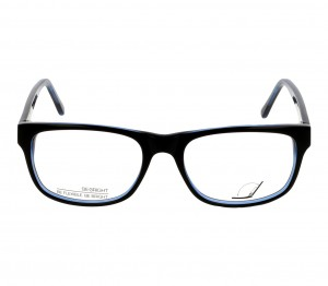 Full Rim Acetate Rectangle Blue Large Be Bright BBDM01 Eyeglasses