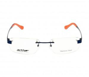 Rimless Monel Rectangle Blue Medium Activ ACHM06 Eyeglasses