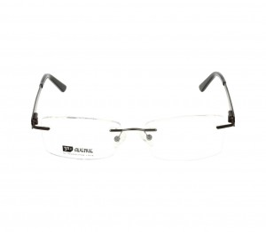 Rimless Monel Rectangle Grey Medium 5th Avenue FAHM24 Eyeglasses