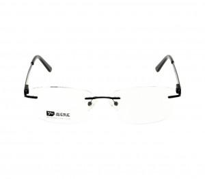 Rimless Monel Round Black Medium 5th Avenue FAHM26 Eyeglasses