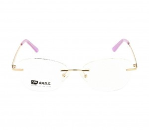 Rimless Monel Round Pink Medium 5th Avenue FAHF16 Eyeglasses