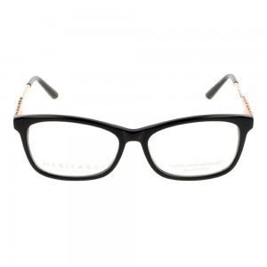 Full Rim Acetate Rectangle Black Medium Heritage HEHF32 Eyeglasses