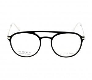 Full Rim Acetate Round Black Medium In Style ISHM03 Eyeglasses