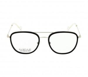 Full Rim Metal Rectangle Black Medium In Style ISHM05 Eyeglasses