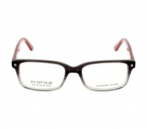 Full Rim Acetate Rectangle Grey Medium In Style ISHT05 Eyeglasses