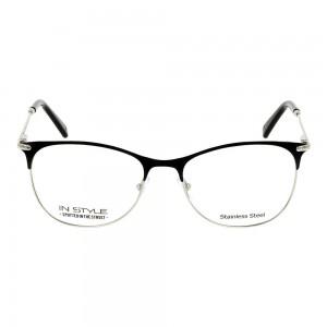 Full Rim Metal Rectangle Black Small In Style ISHF36 Eyeglasses