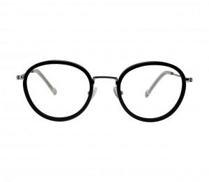 Full Rim Acetate Round Black Medium In Style ISHM29 Eyeglasses
