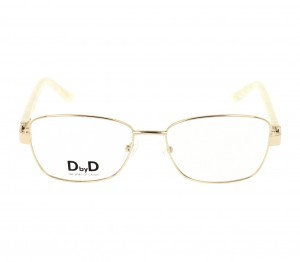 Full Rim Monel Rectangle Gold Medium DbyD DBHF04 Eyeglasses