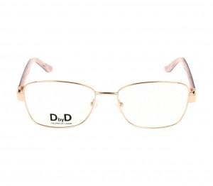 Full Rim Monel Rectangle Pink Medium DbyD DBHF04 Eyeglasses
