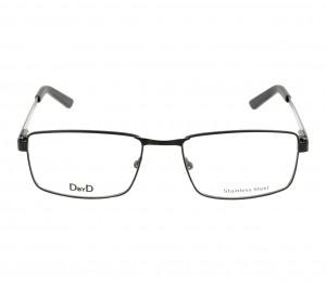 Full Rim Metal Rectangle Black Small DbyD DBHM05 Eyeglasses