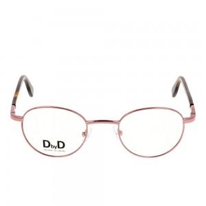 Full Rim Metal Round Pink Small DbyD DYF15 Eyeglasses